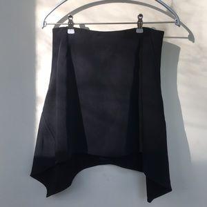 Intermix asymmetrical skirt.